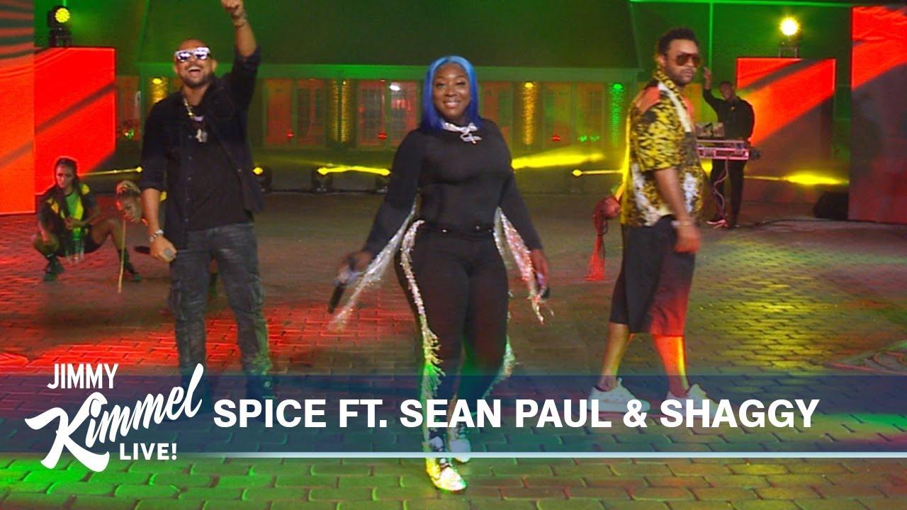Spice feat. Sean Paul & Shaggy – Go Down Deh @ Jimmy Kimmel Live! [6/15/2021]