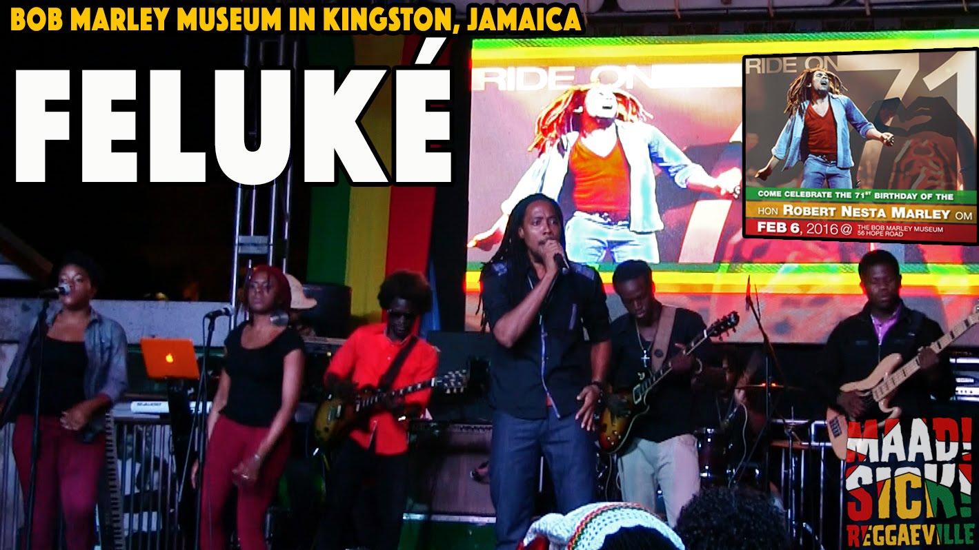Feluke @ Bob Marley's 71st Birthday Celebration in Kingston, Jamaica [2/6/2016]
