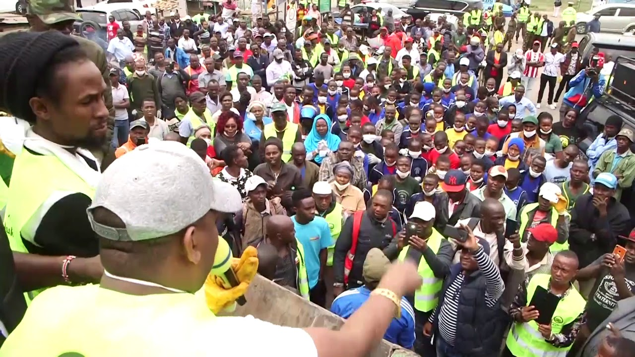 Jah Cure joins Governor Sonko in Cleaning Nairobi City [7/6/2019]