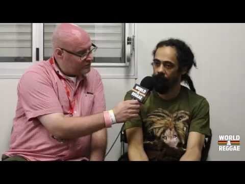 Interview with Damian Marley @ Reggae Geel 2014 [8/2/2014]