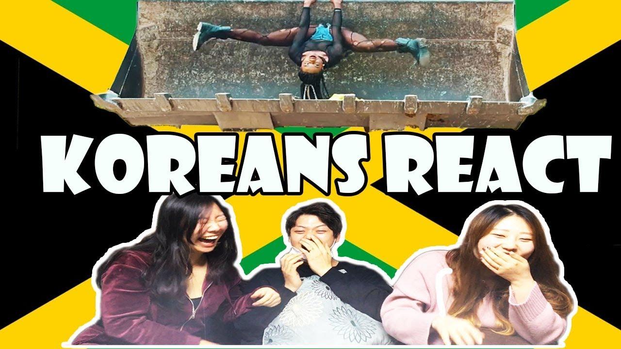 Koreans React to Jamaican Music Videos (Dancehall Edition) [2/12/2018]