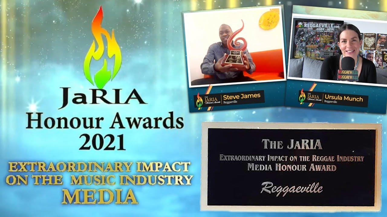 Reggaeville.com Wins JaRIA Honour Award 2021- Extraordinary Impact on the Music Industry 'NEW MEDIA' [7/5/2021]