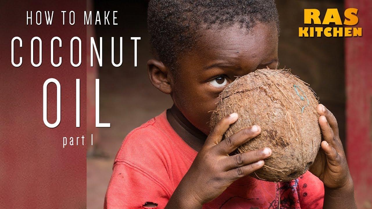Ras Kitchen - Grating Wild Coconut for Ras Kitchen Coconut Oil! [8/3/2018]