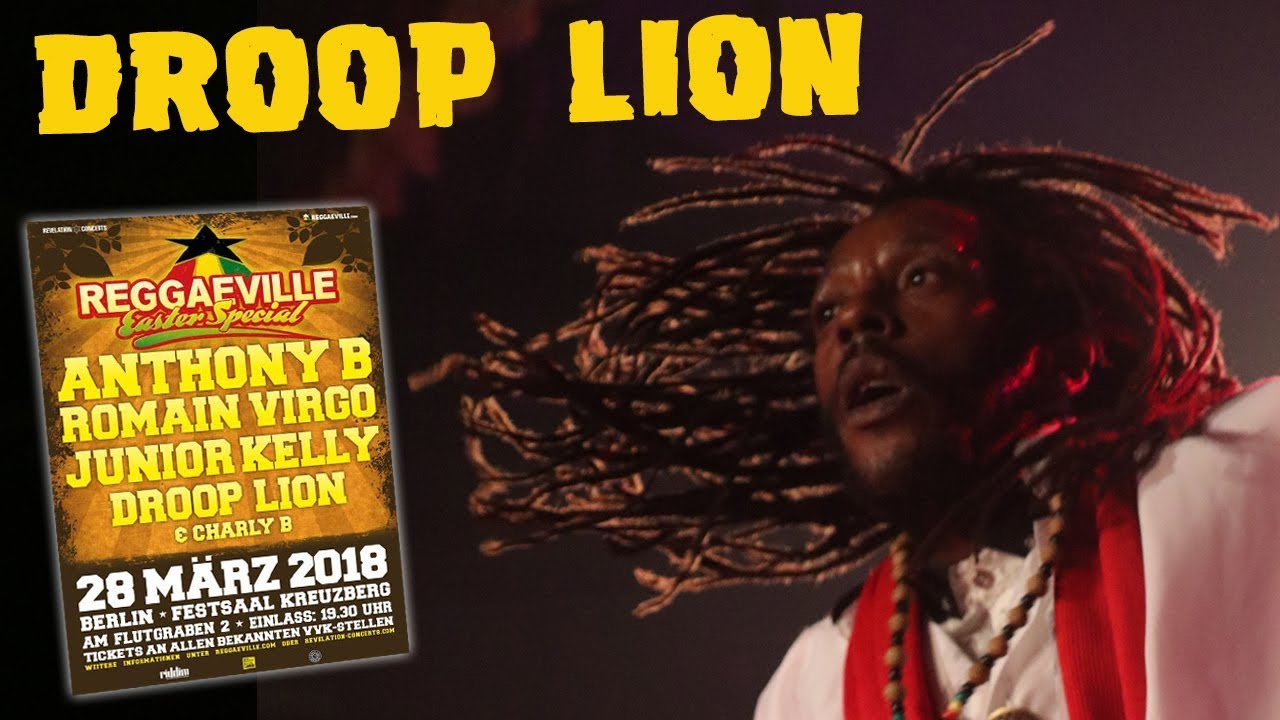 Droop Lion in Berlin, Germany @ Reggaeville Easter Special 2018 [3/28/2018]