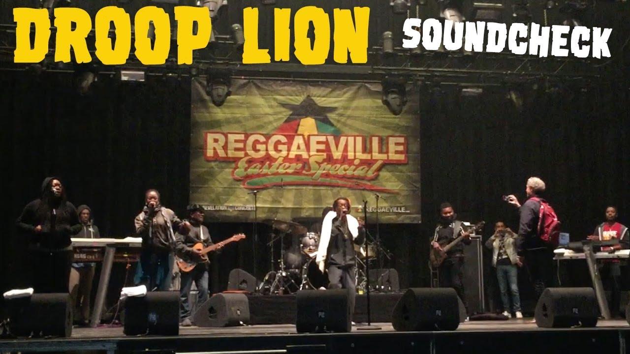 Droop Lion - Soundcheck in Amsterdam @ Reggaeville Easter Special 2018 [4/1/2018]