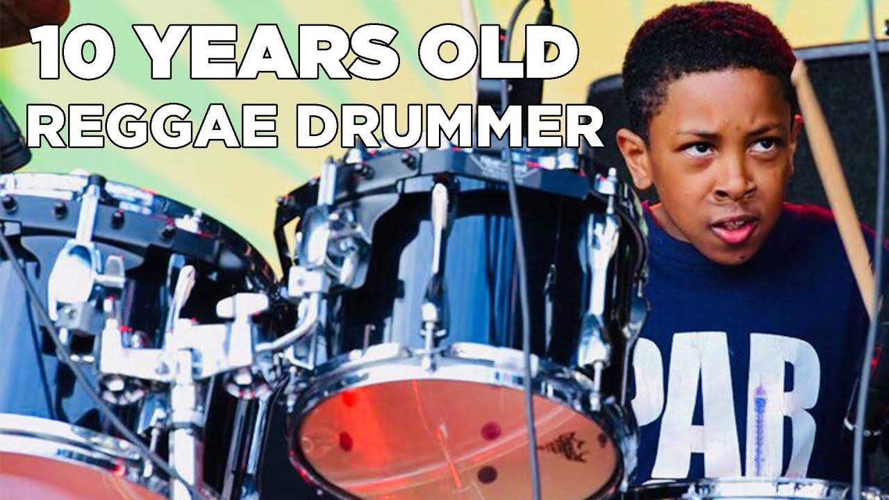 10 years old Reggae Drummer Nathan Burnett @ Liberation Festival 2019 [5/4/2019]
