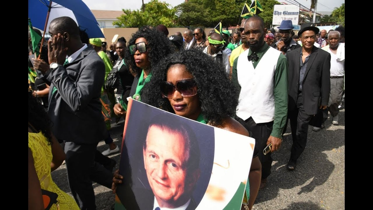 Hundreds turn out for colourful Seaga funeral [6/23/2019]