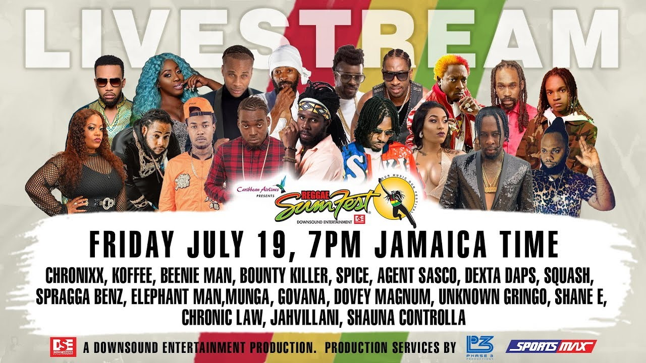 Live Stream - Reggae Sumfest (Festival Night 1) [7/19/2019]