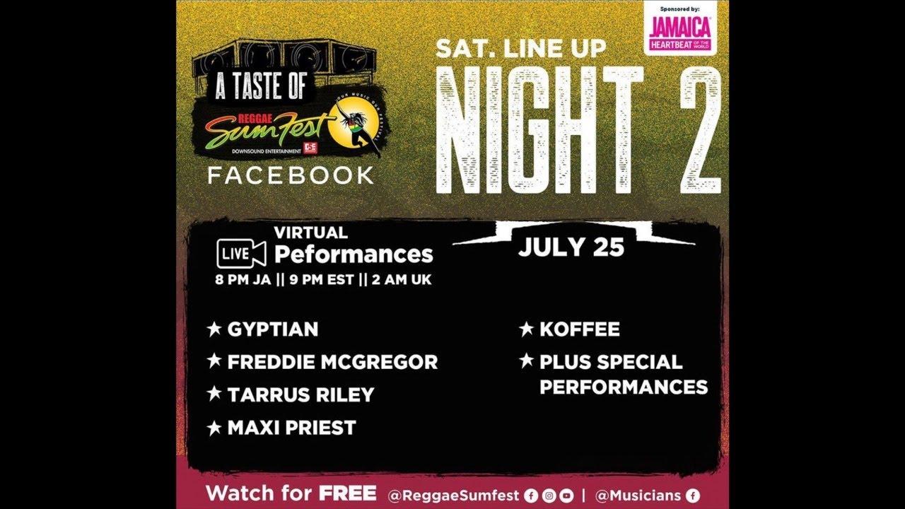A Taste of Reggae Sumfest 2020 - Night 2 (Live Stream) [7/25/2020]