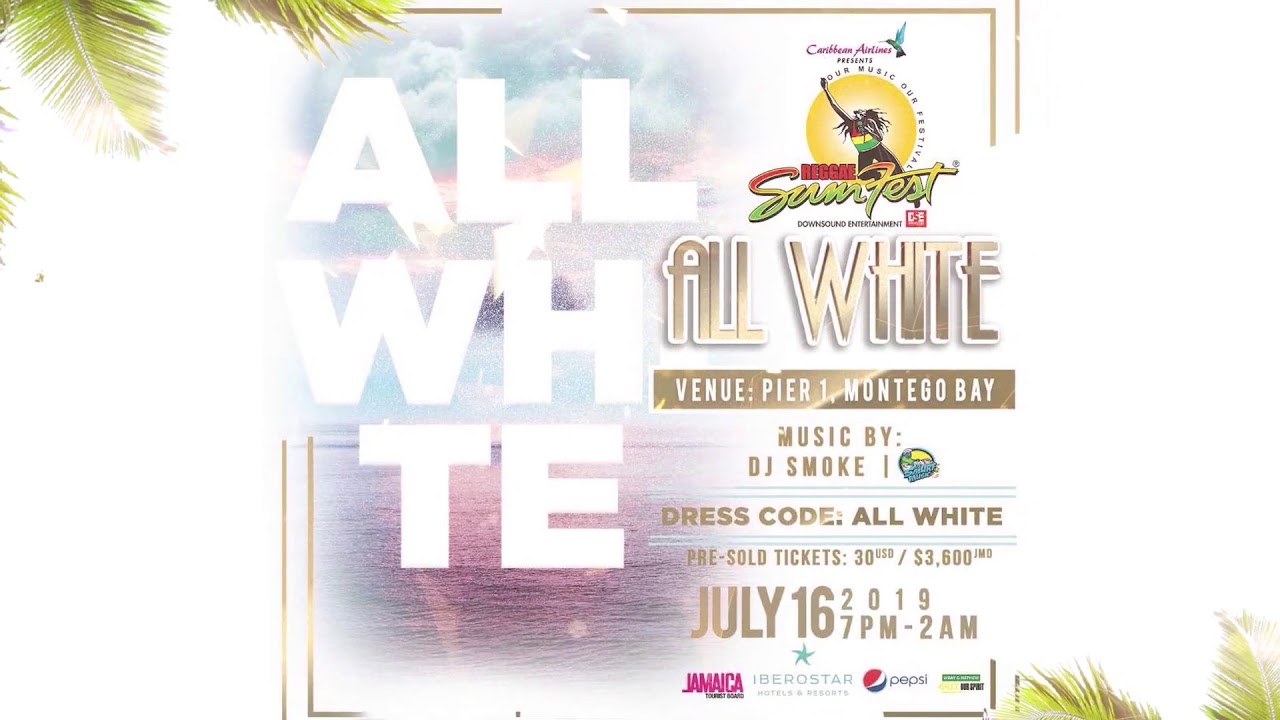 All White Party - Reggae Sumfest 2019 (Trailer) [5/13/2019]