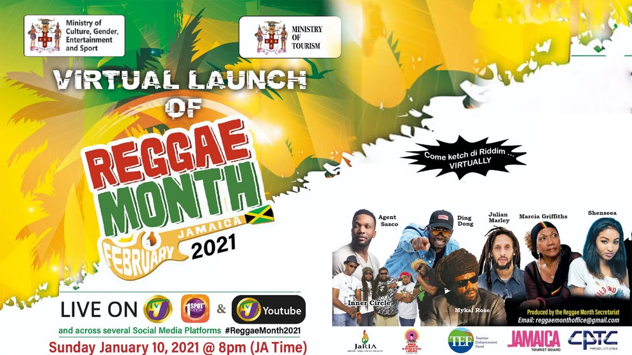 Virtual Launch of Reggae Month in Jamaica February 2021 (Live Stream) [1/10/2021]