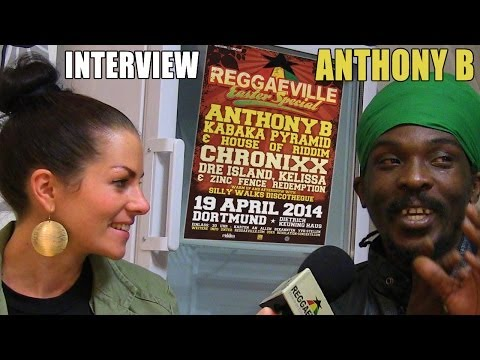 Interview with Anthony B @ Reggaeville Easter Special in Dortmund, Germany [4/19/2014]