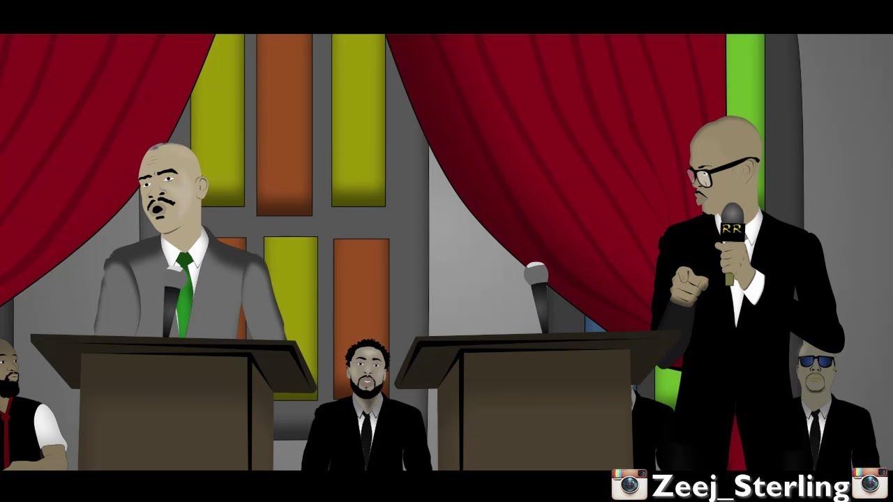 Gino Jennings Ushers Mr Vegas out of God's House (Jamaican Cartoon) [6/12/2018]