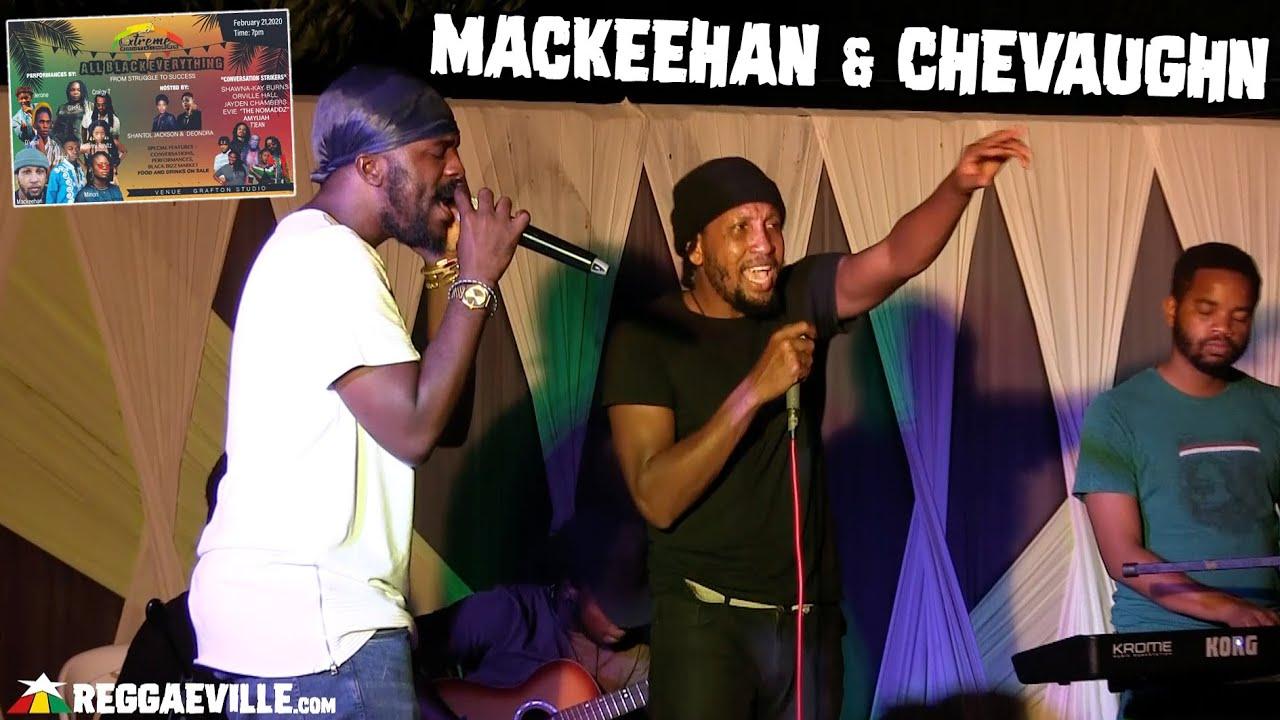 Mackeehan & Chevaughn in Kingston, JA @ Grafton Studios - All Black Everything [2/21/2020]