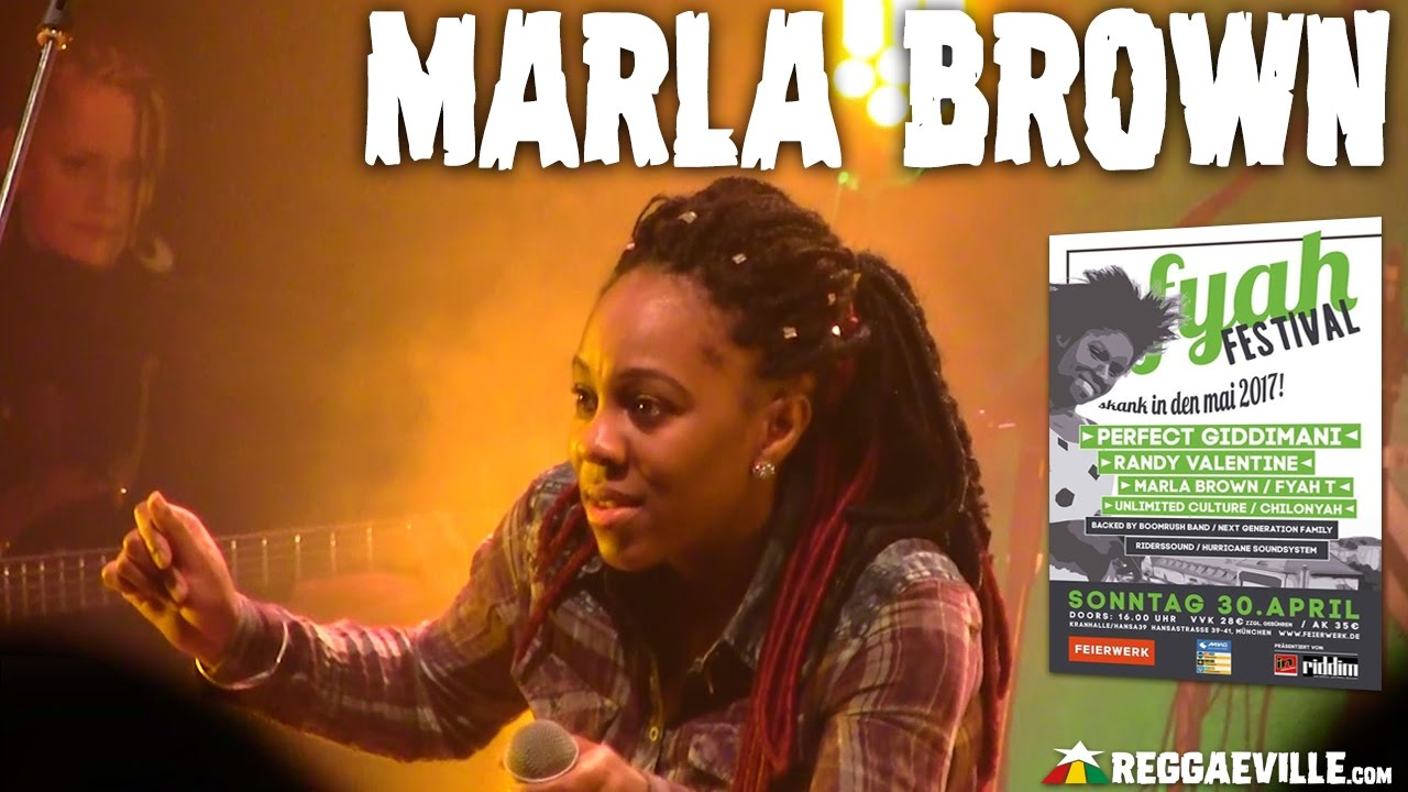 Marla Brown & Next Generation Family @ Fyah Festival in Munich, Germany [4/30/2017]