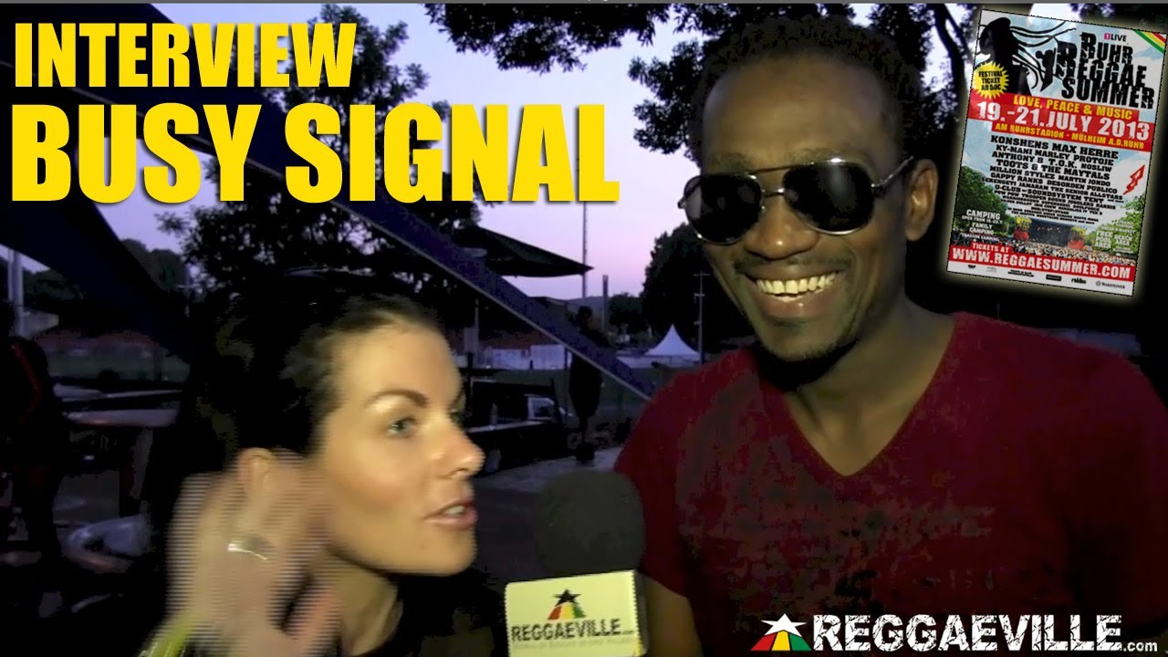 Interview with Busy Signal @ Ruhr Reggae Summer [7/21/2013]