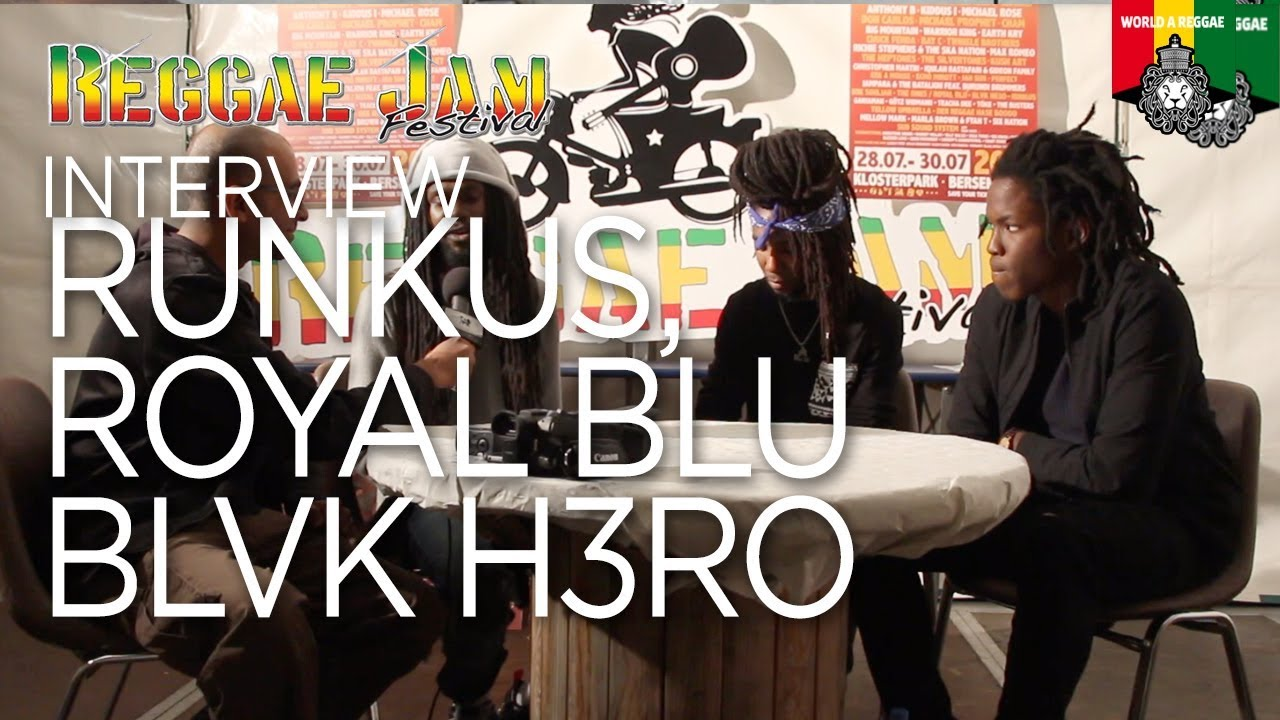 Interview with Runkus, Royal Blu & Blvk H3ro @ Reggae Jam 2017 [7/28/2017]