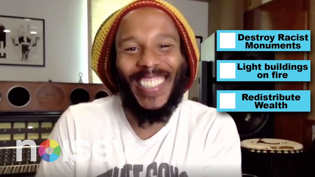 Ziggy Marley on Broken Bones, Trust, and Racist Monuments @ Noisey Questionnaire of Life [9/15/2020]