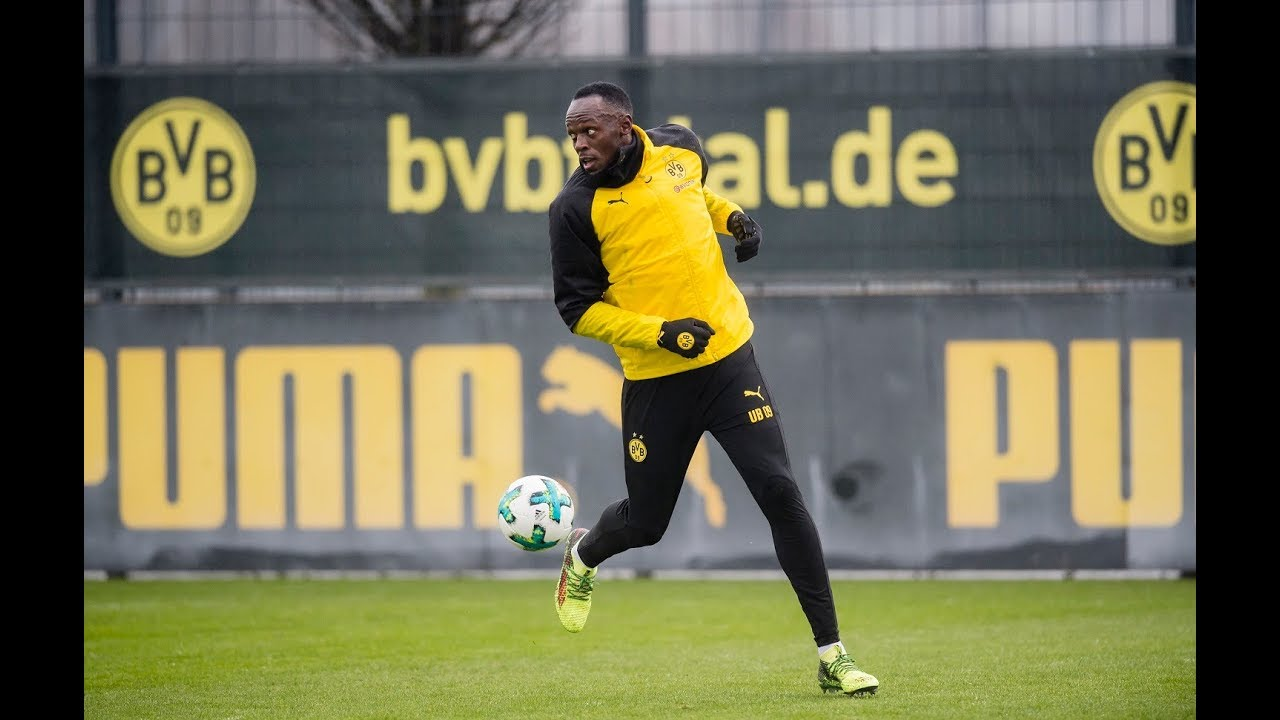 Usain Bolt - Full Training Session with Borussia Dortmund [3/23/2018]