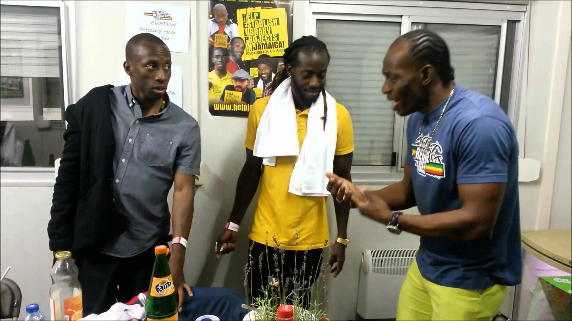 Lukie D, Clay & Christopher Ellis Backstage @ Reggae Geel 2015 [8/1/2015]