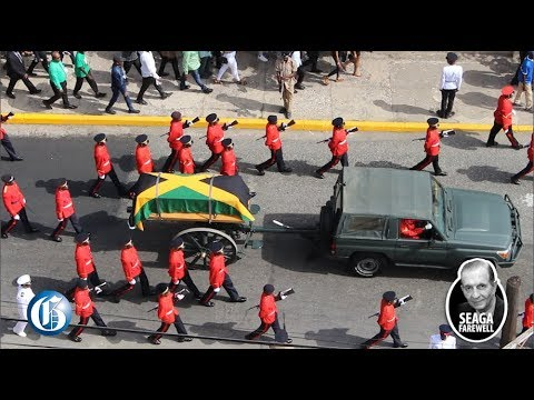 Chants as gun carriage passes mourners @Seaga Farewell [6/23/2019]