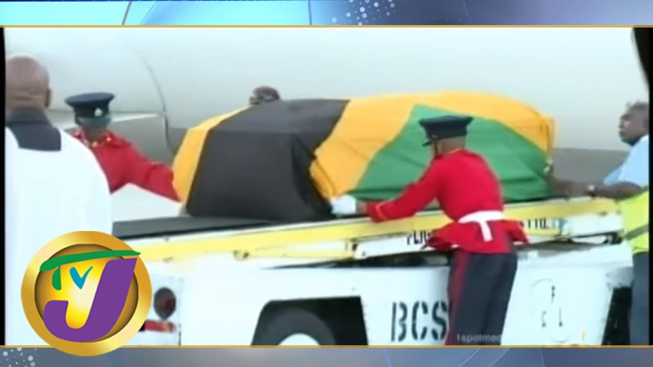 Mourners Gathered as Edward Seaga's Body Arrived in Jamaica (TVJ News Report) [6/2/2019]