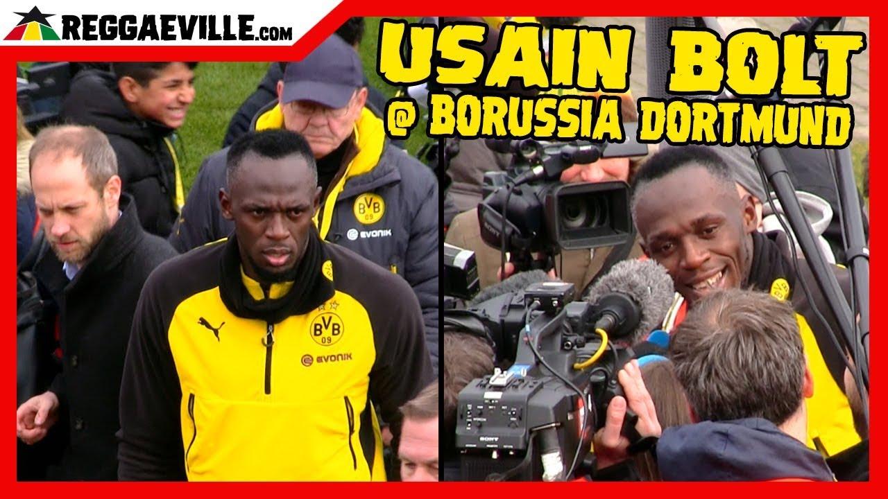 Usain Bolt @Borussia Dortmund - Meeting Press & Fans [3/23/2018]