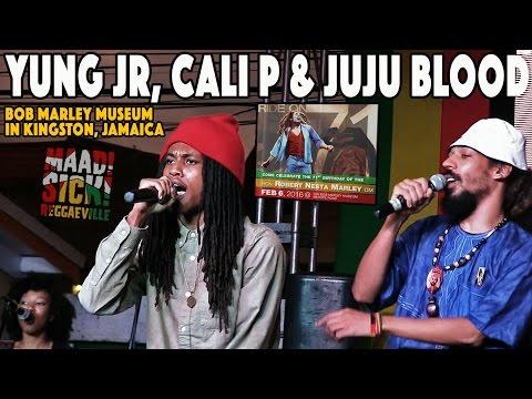 Yung JR, Cali P & Juju Blood @ Bob Marley's 71st Birthday Celebration in Kingston, Jamaica [2/6/2016]