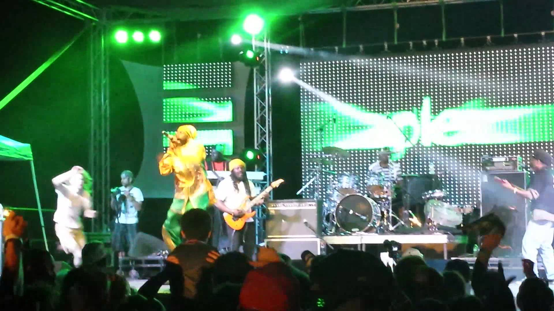 Capleton gets attacked during show @Reggae In The Hills [6/8/2013]