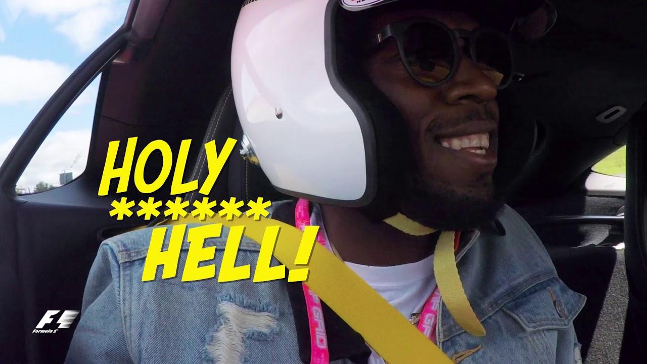 Usain Bolt Takes A Hot Lap Around Austin With Lewis Hamilton [10/24/2017]