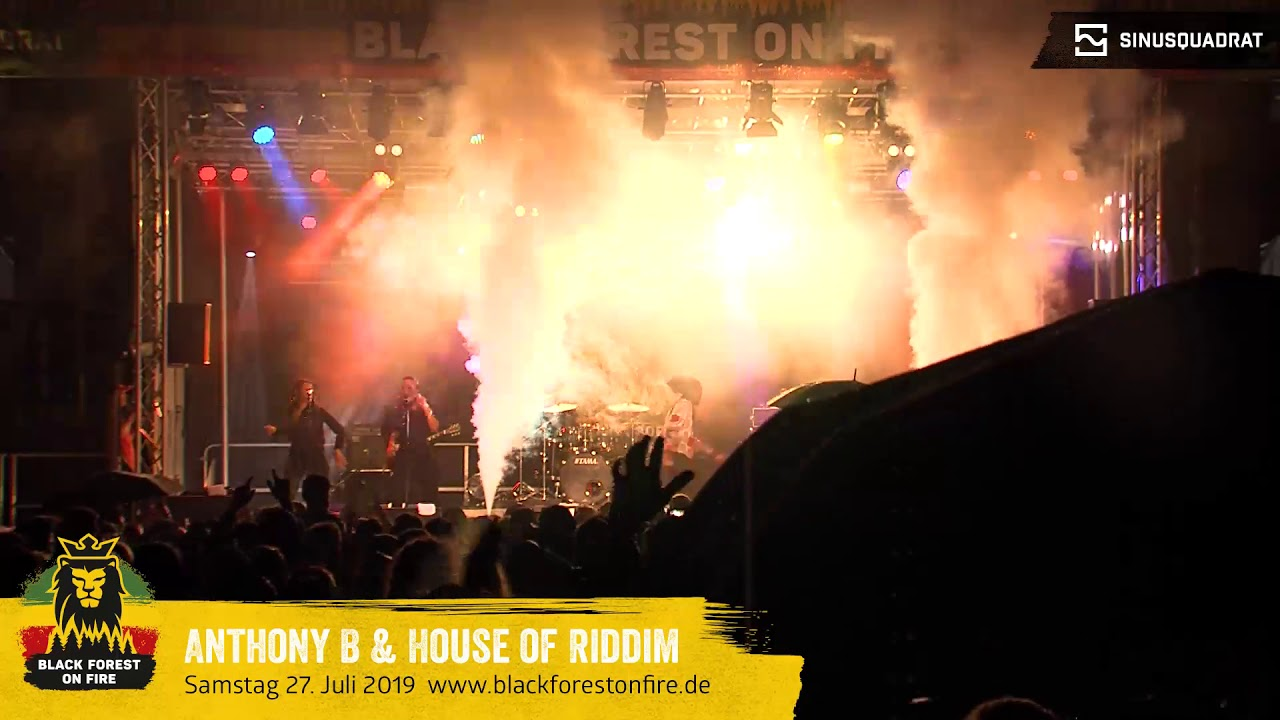 Anthony B & House of Riddim @ Black Forest on Fire 2019 [7/28/2019]