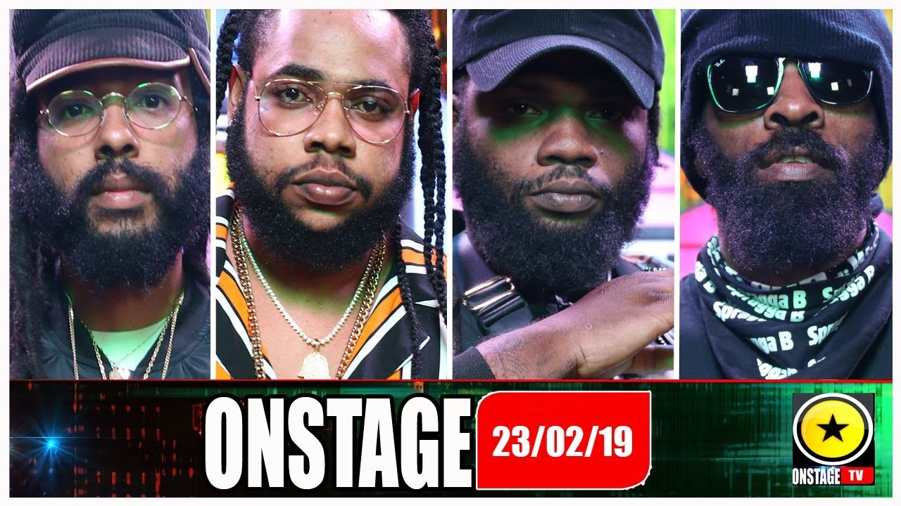 Squash, Chronic Law, Spragga Benz, Protoje @ OnStage TV [2/23/2019]