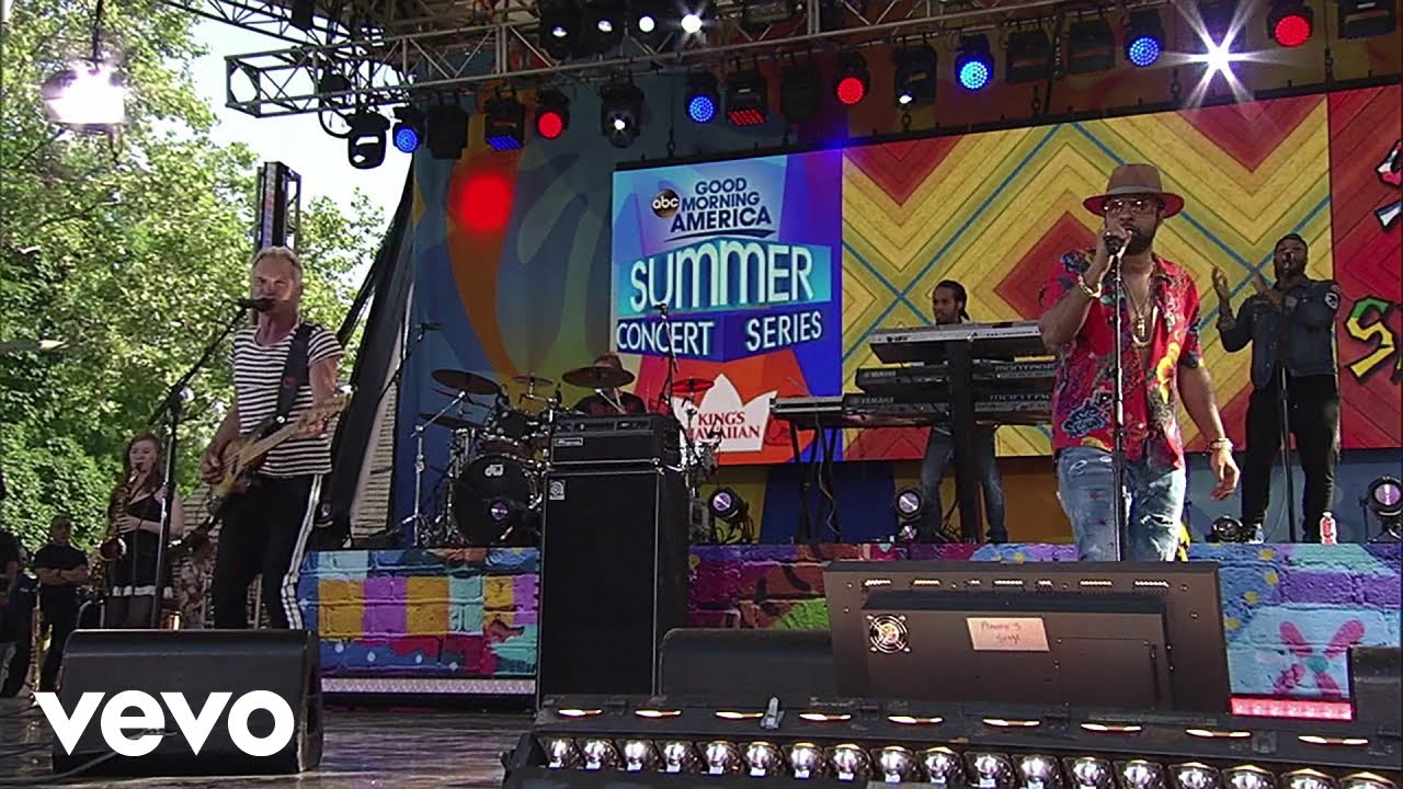Sting & Shaggy - Dreaming In The U.S.A. @ Good Morning America 2018 [5/25/2018]