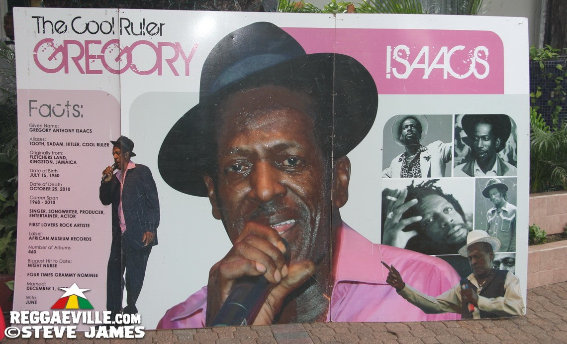 Gregory Isaacs OD Function in Kingston, Jamaica