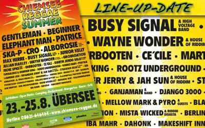 Line-Up-Date: Chiemsee Reggae Summer 2013